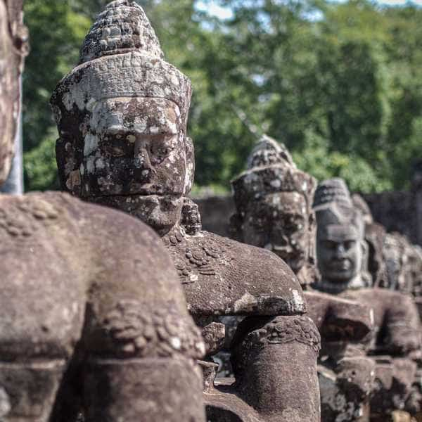 Statues at Angkor Wat