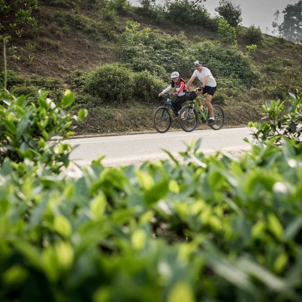 Cyclists on the Ho Chi Minh Trail in Vietnam