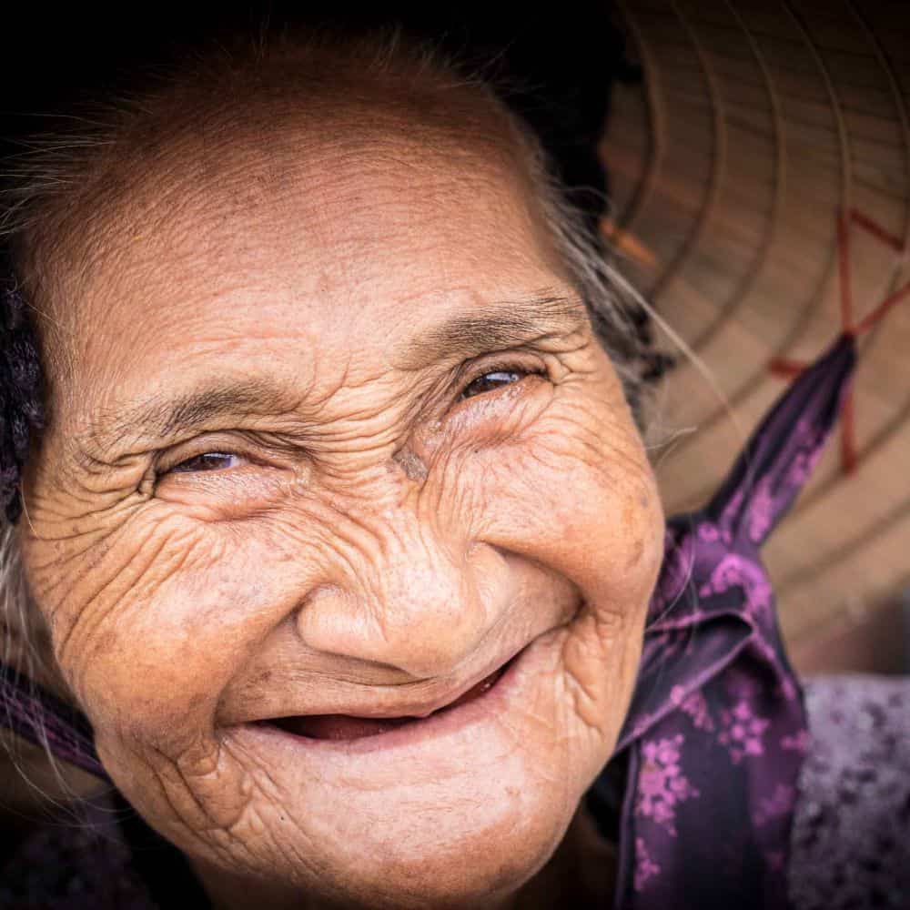 portrait of an old Vietnamese lady