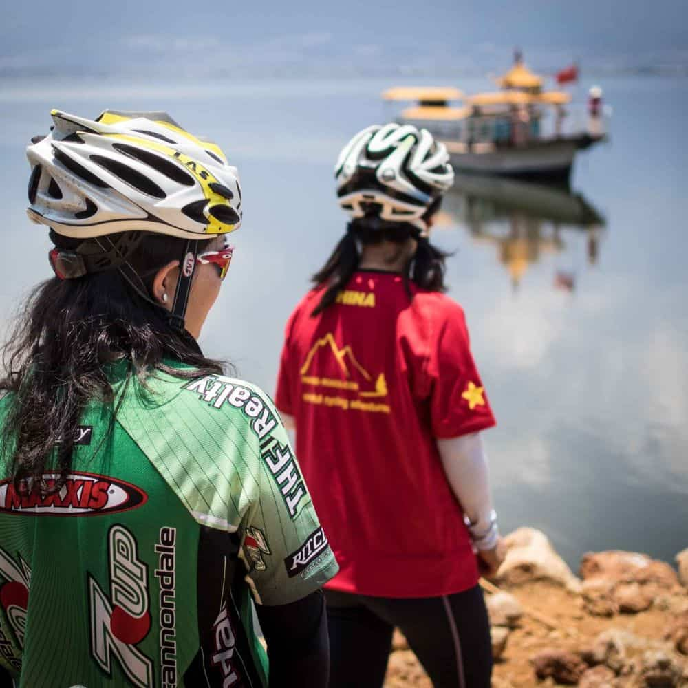 cyclists on holiday touring in Yunnan, China