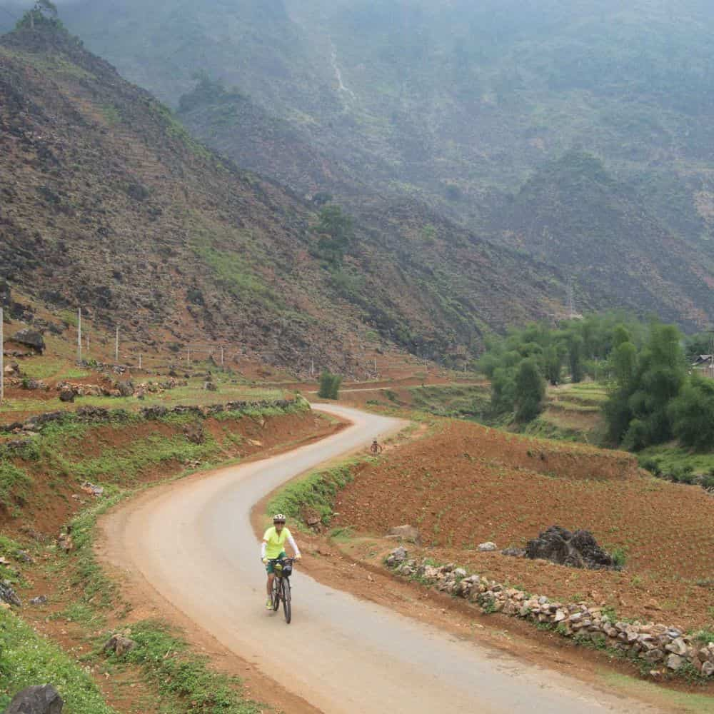 bicycle touring holiday in mountains of Vietnam