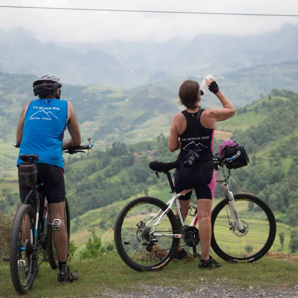 cyclists on holiday touring Vietnam