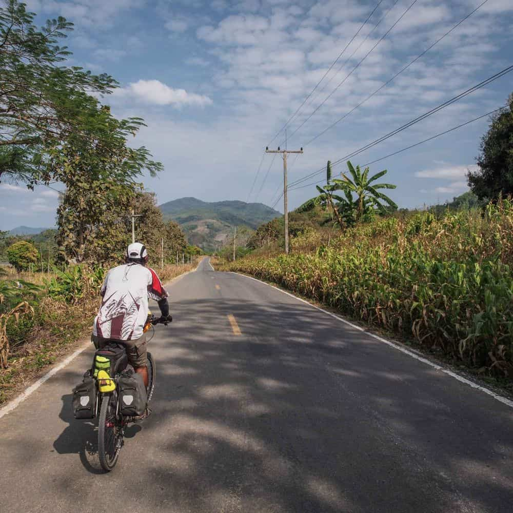 bicycle tour north Thailand