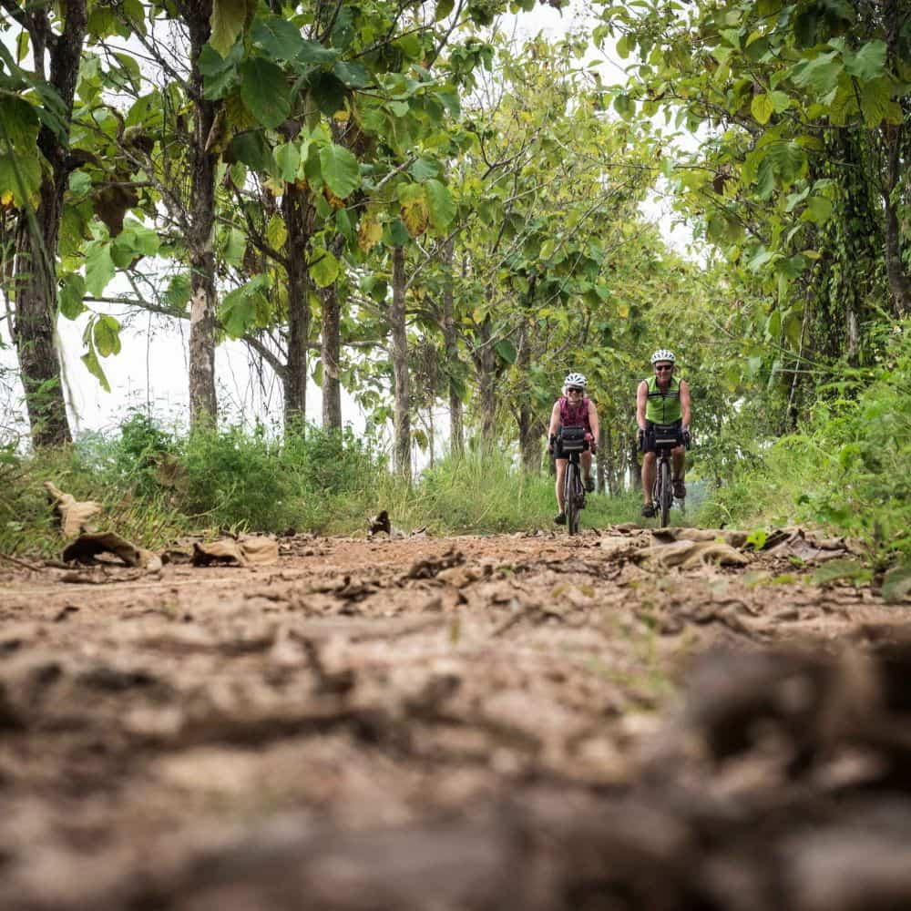 touring cyclists in north thailand
