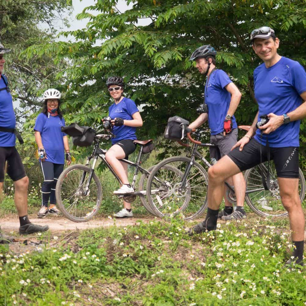 bicycle tour group in north Thailand