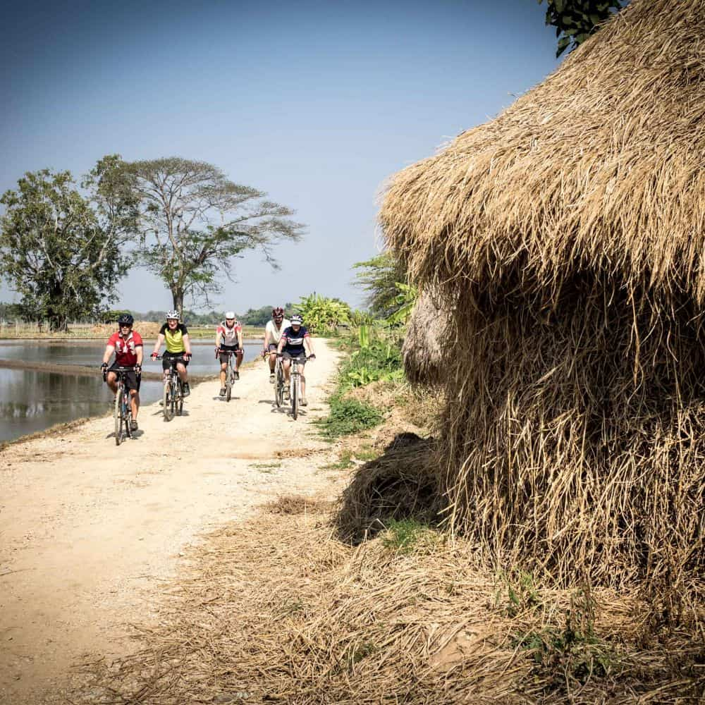 Gravel cyclists on a bike packing holiday in Thailand