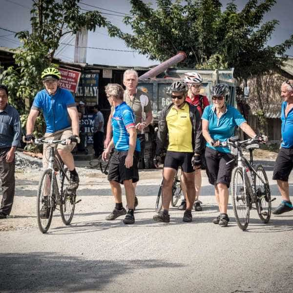 bicycle tour group in northeast vietnam
