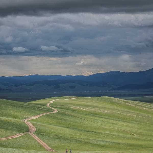 Wide open Mongolian grasslands
