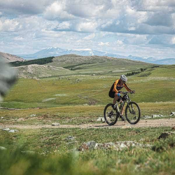 mountain biking Mongolia's Altai Mountains