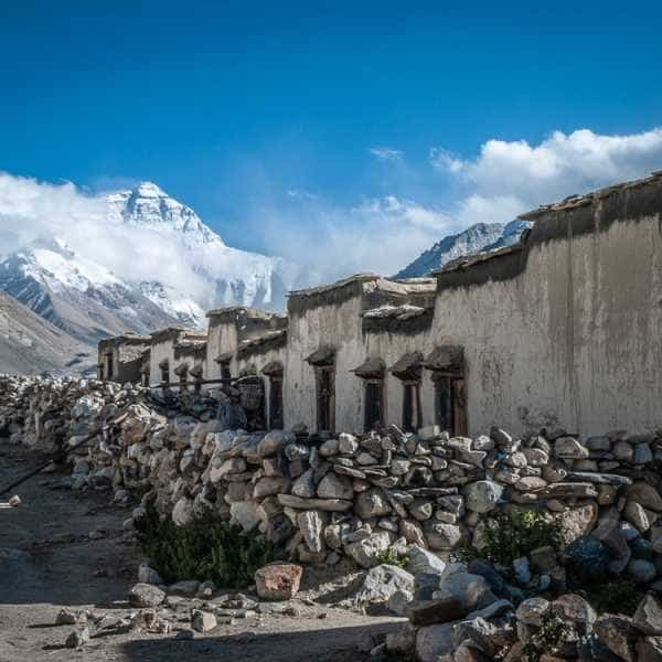 Everest seem from Rongbuk Monestary