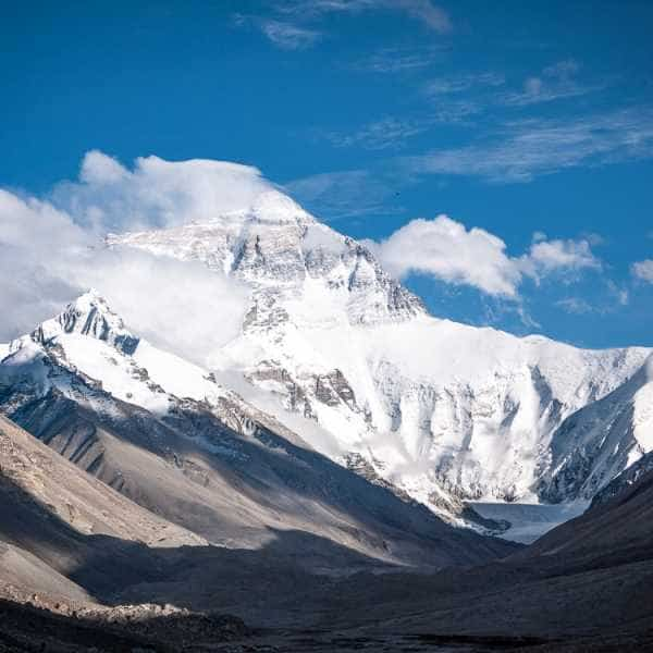 Everest from EBC Tibet when cycling Lhasa to Kathmandu Tibet