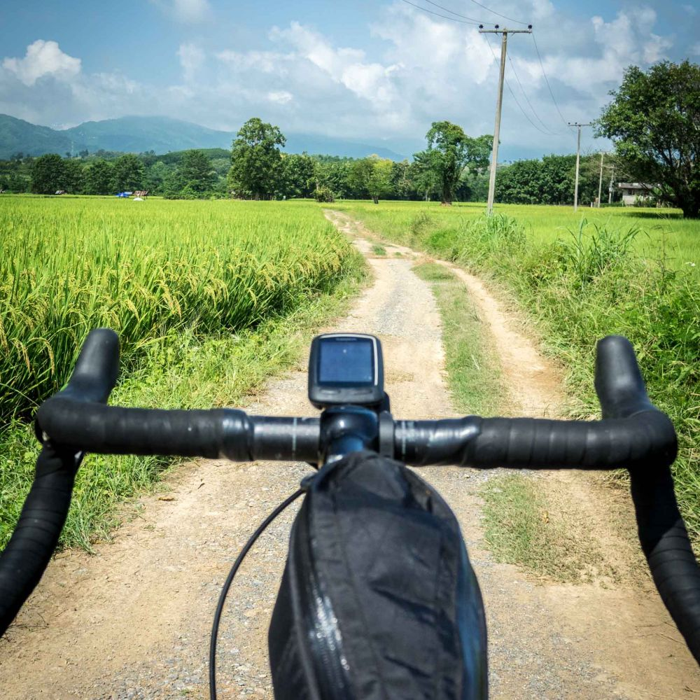 cycling gravel roads in Thailand