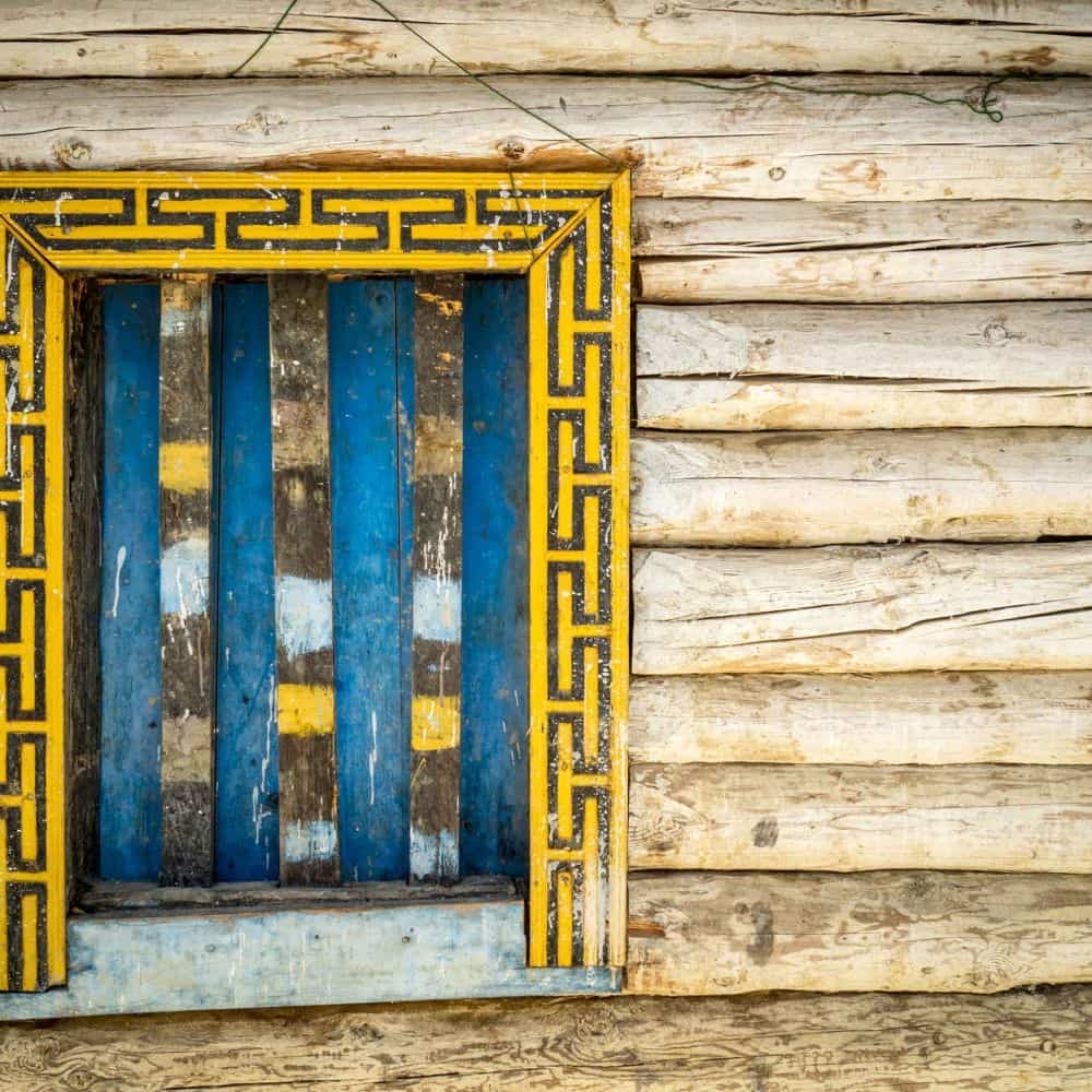 Traditional wooden window Sichuan China