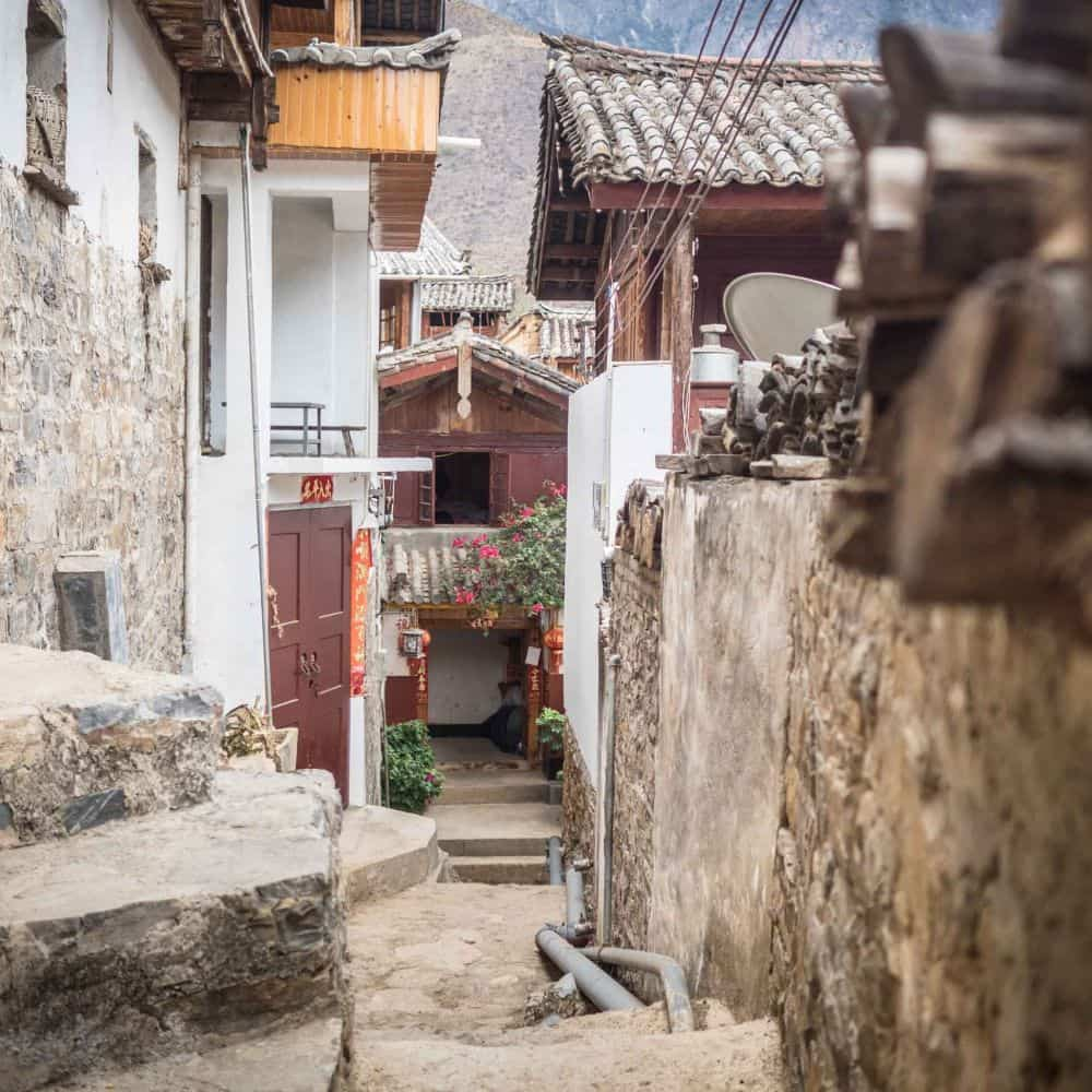 flagstone streets of Bao Shan Sichuan China