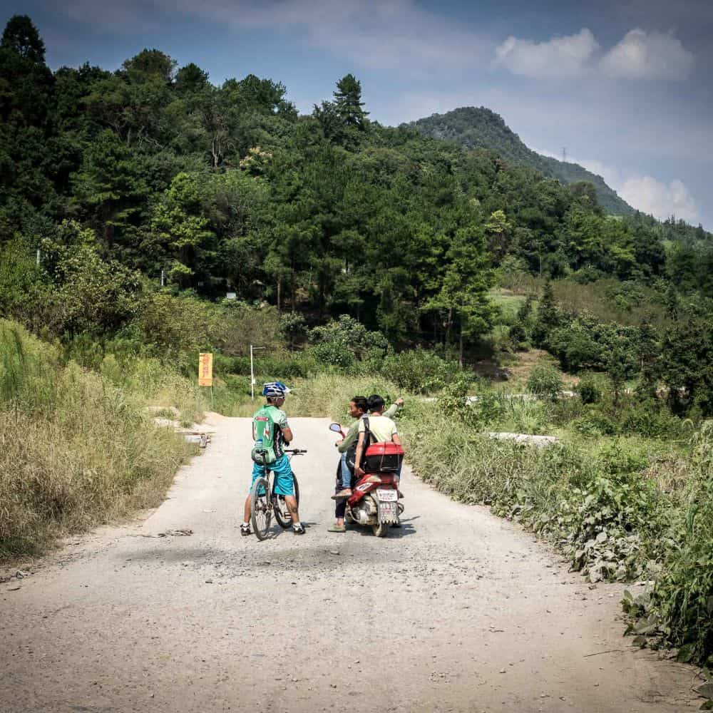 cycle touring holiday in Guizhou, China.