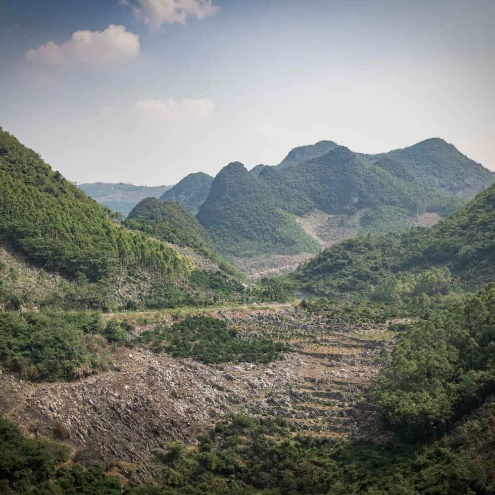 bicycle touring scenery in China