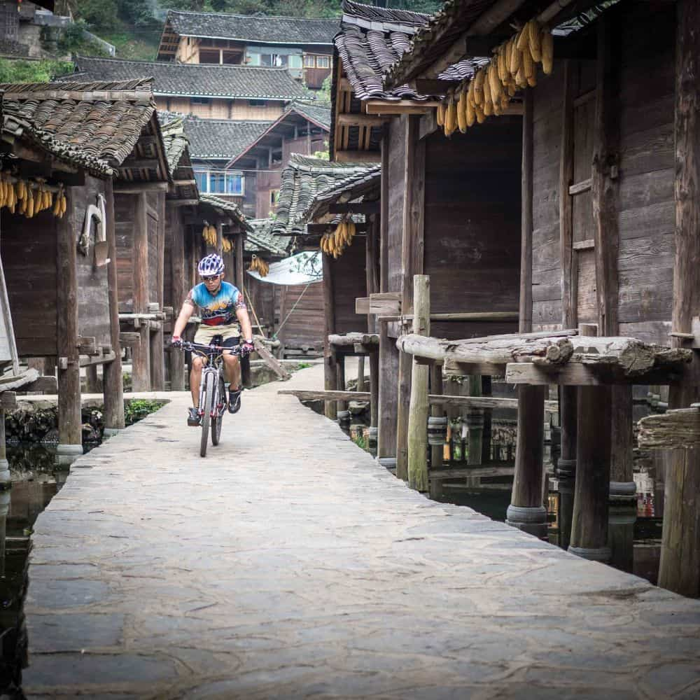 guanxi guizhou China bicycle touring holiday