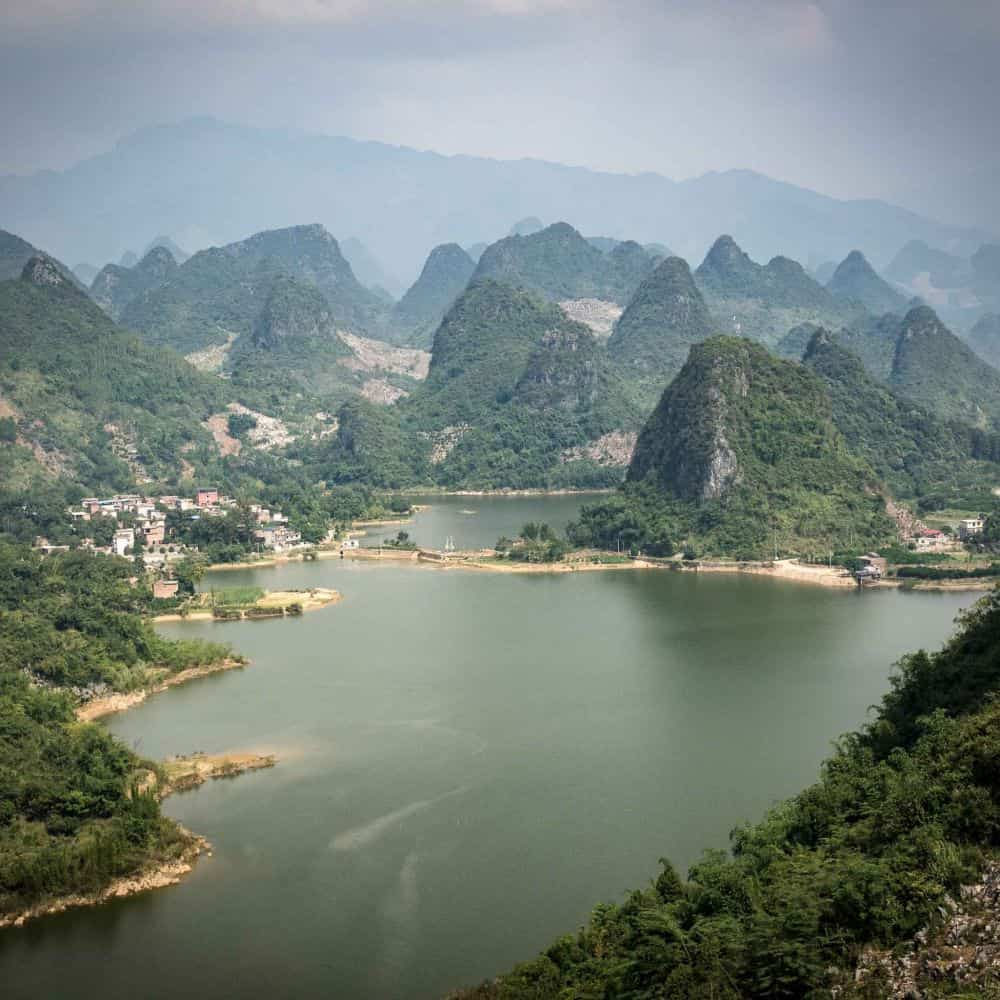 Cycling in Guanxi, China