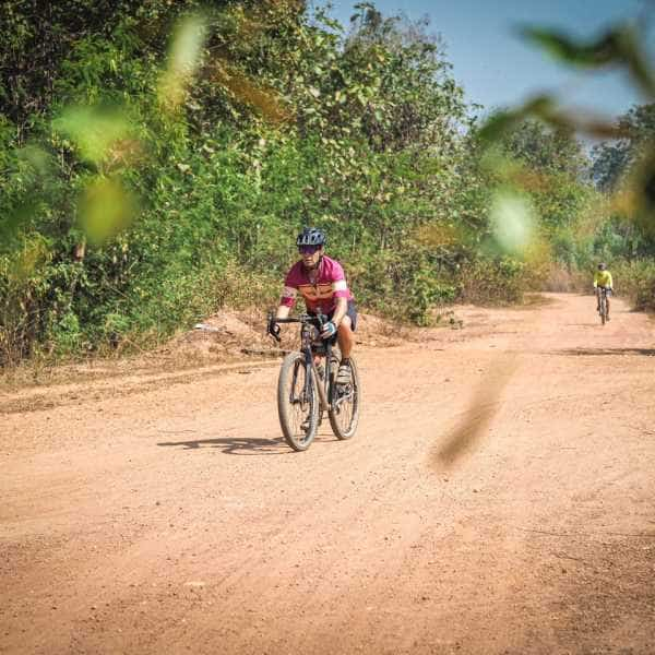 A gravel cyclist in southeast asia