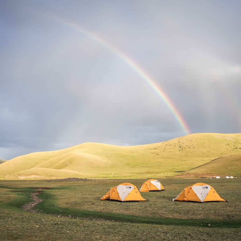 Mongolia cycling holiday camping
