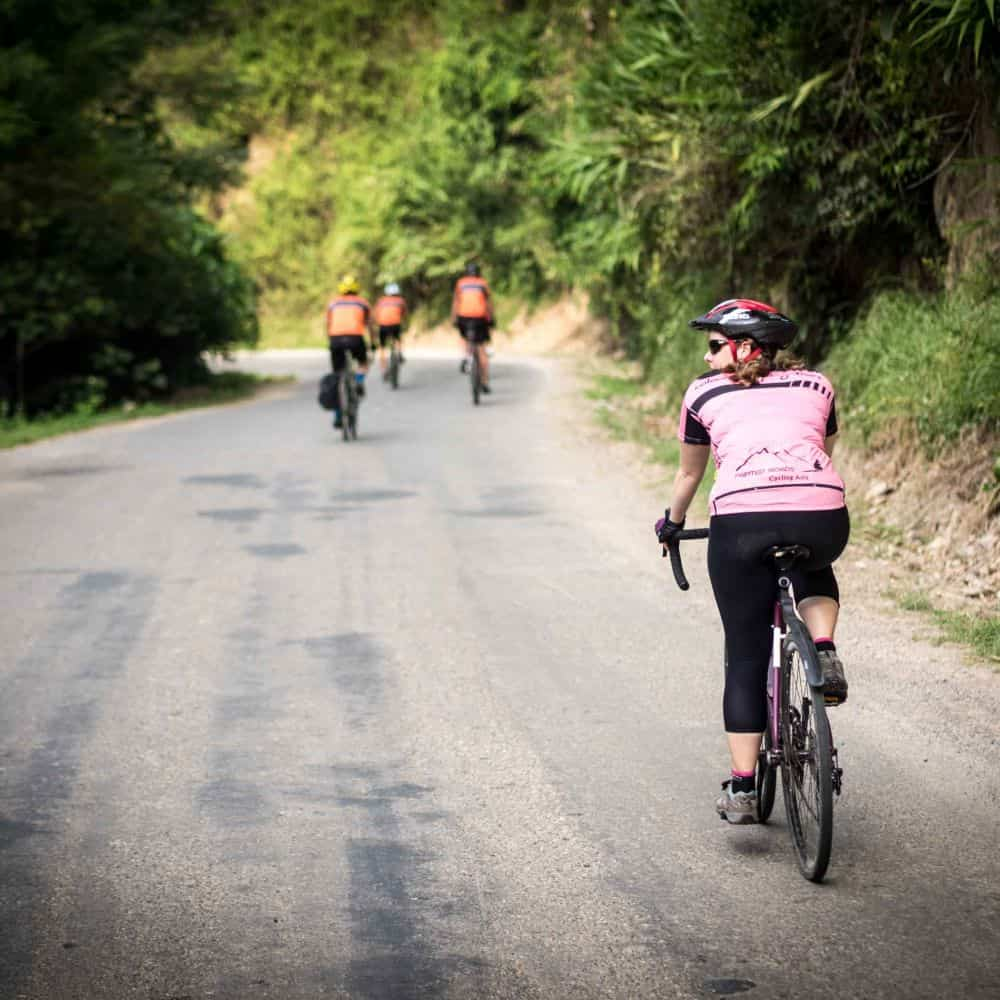 Cycle touring Lao