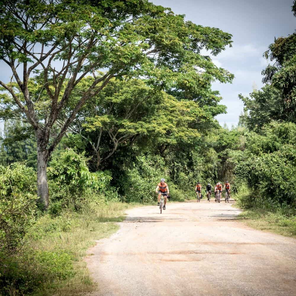Riding the gravel roads towards Chiang Rai, Thailand