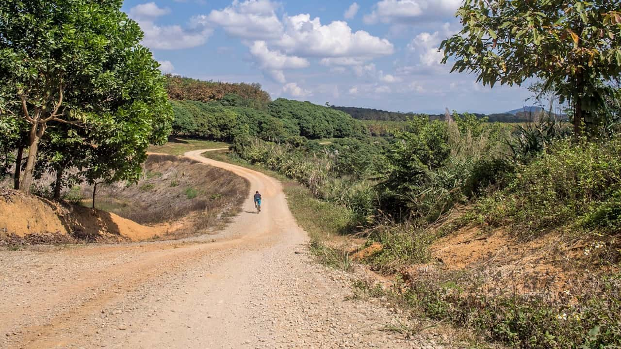 Cycling tour holiday in Thailand Gravel Roads