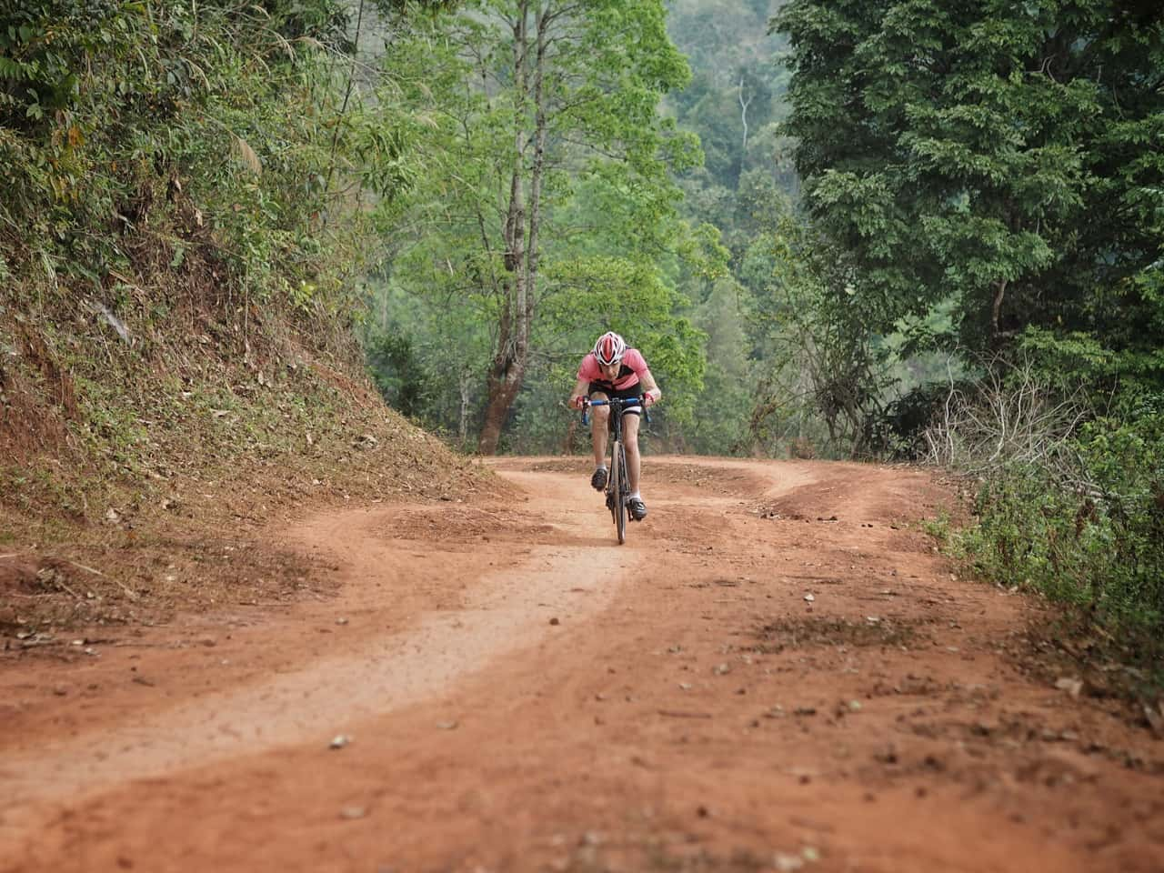 Cyclist on Vietnam's Ho Chi Minh Trail