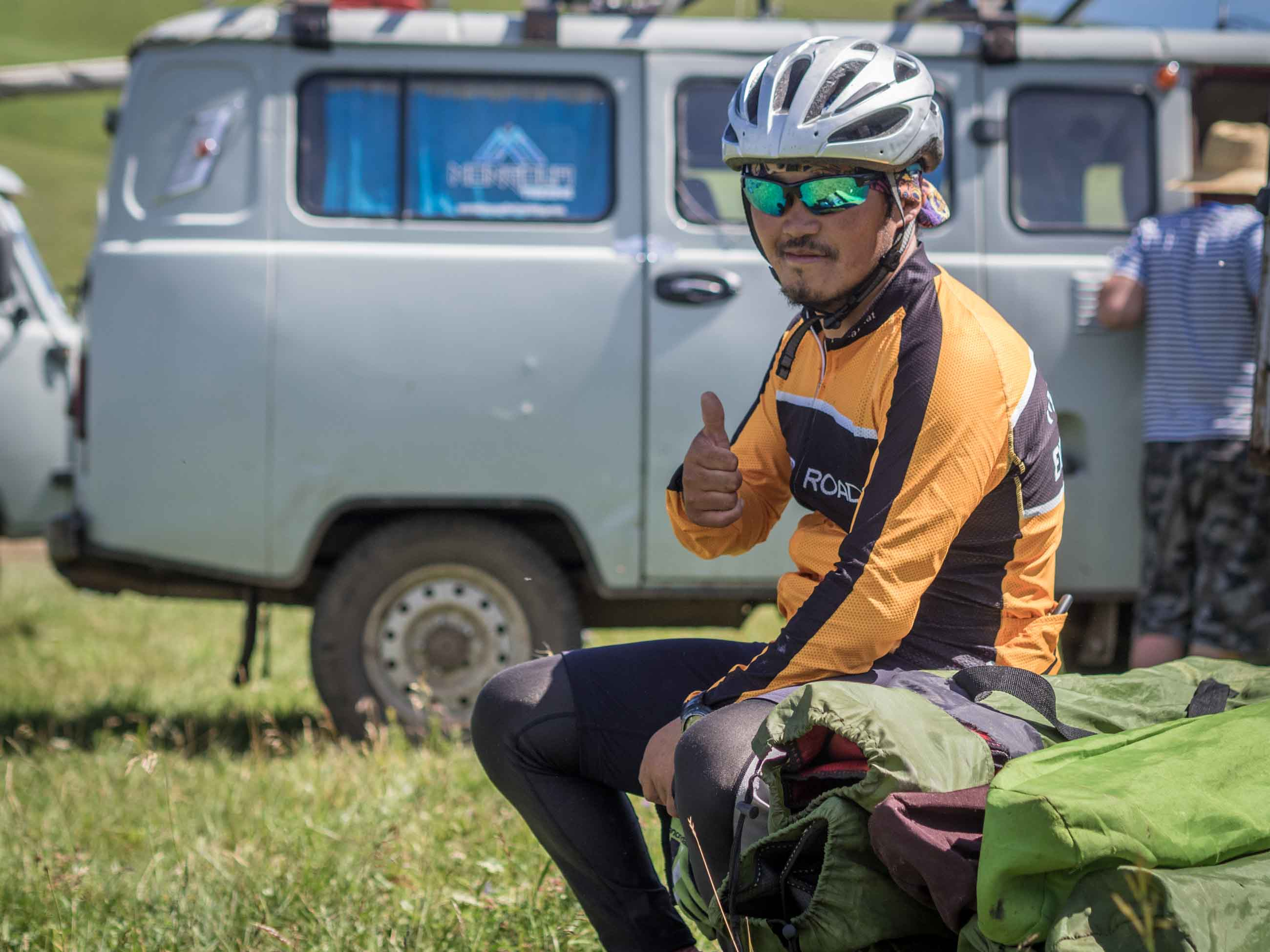 Mongolian cycling tour guide