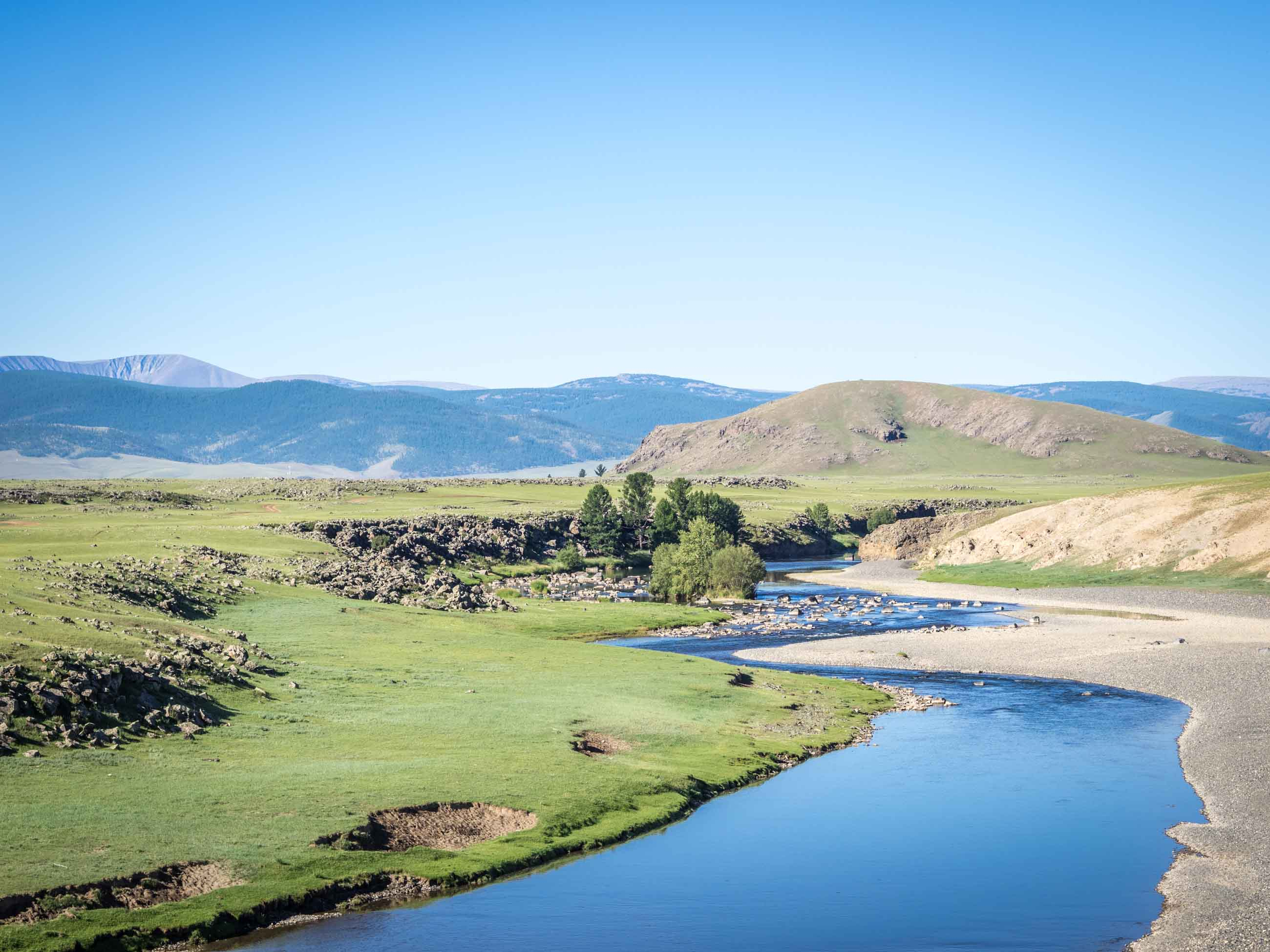 Cycling Orkhon valley Mongolia