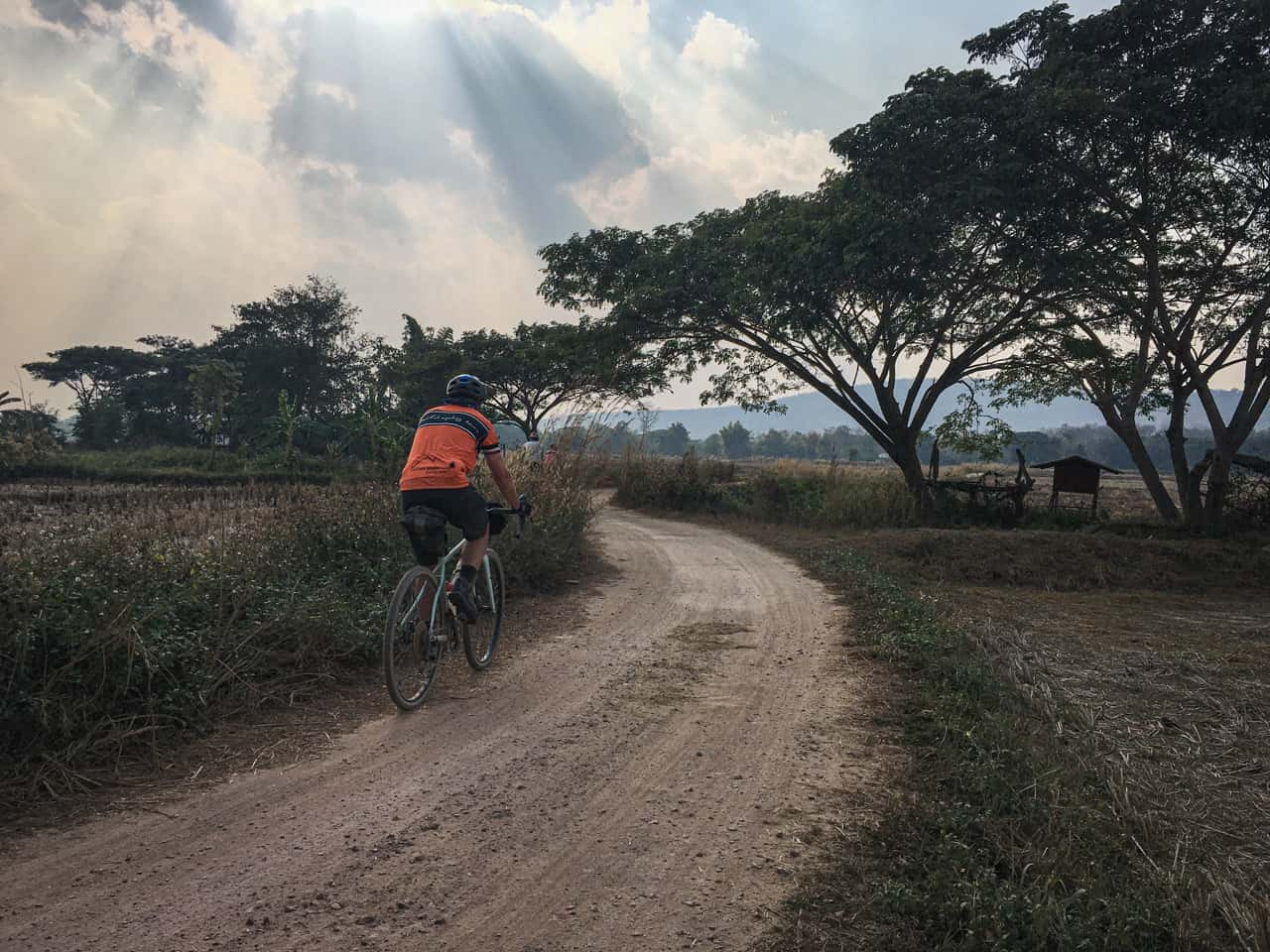 gravel cyclist in Thailand