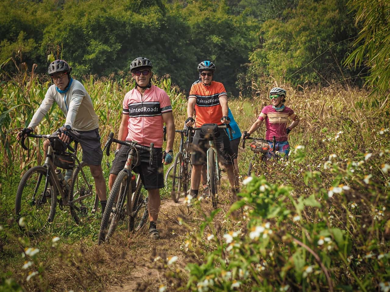 gravel cyclists lost in Thailand